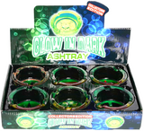 Collector's Edition Glow In The Dark Mix Rasta Glass Ashtray