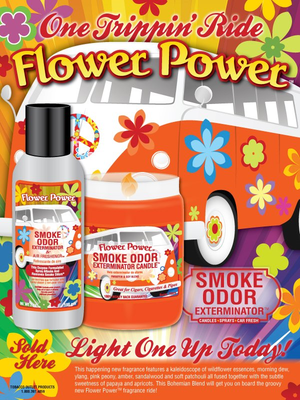 Candle for the Car Air Freshener - Flower Power