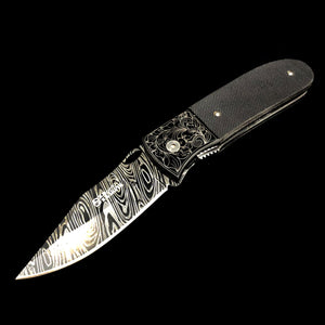 Black Twirl Blade Knife