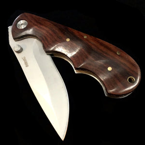 Comfort Grip Wood Handle Knife