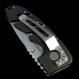 Black Ridged Alternating SIlver Lined Switchblade