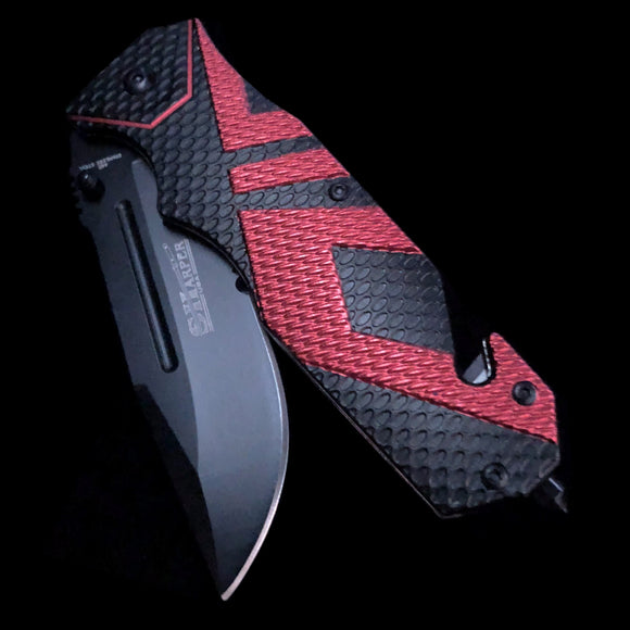 Carbon Fiber Black Contrast Print Knife