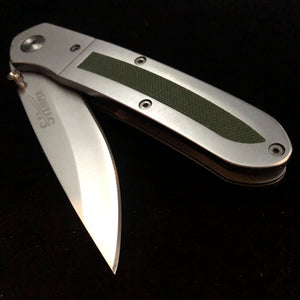 Green Rubber Grip Knife
