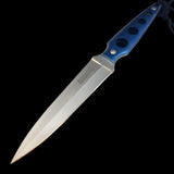 Hunting knife with plastic belt clip sheath.