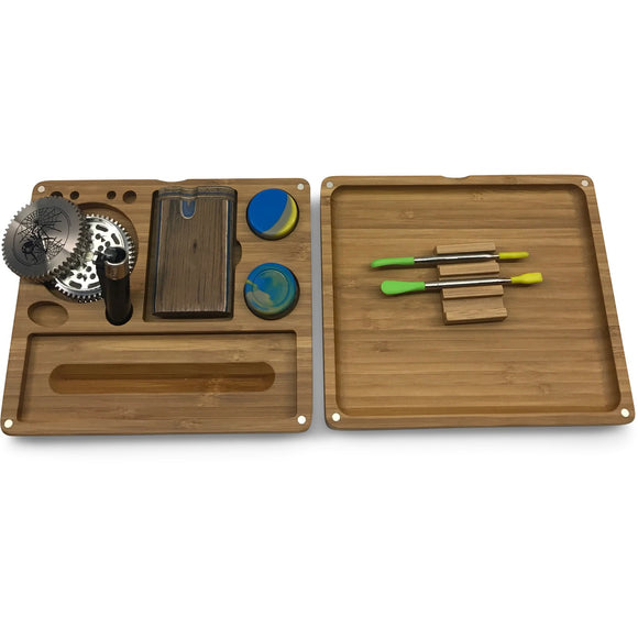 Afghan Hemp Wooden Rolling Tray Kit