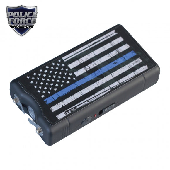 Police Force 9,100,000* Blue Line Stun Gun and Paracord Bracelet