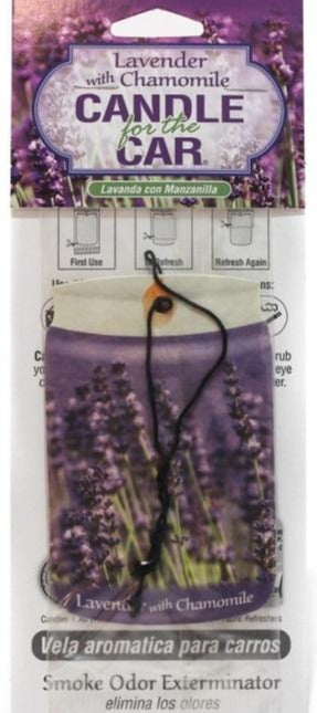 Candle for the Car Air Freshener - Lavender w/ Chamomile