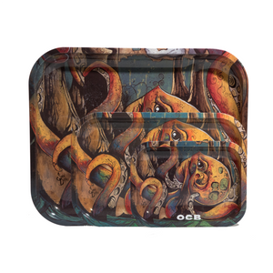OCB Metal Rolling Tray - Max vs Octopus (Medium)