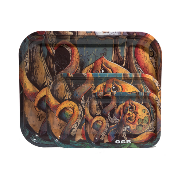 OCB Rolling Tray - Max vs Octopus (Large) ~Buy 1 Get 1 Free, Can Mix & Match~