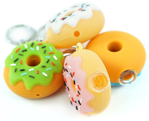 Donut Keychain Silicone Pipe ***Limited Edition - Only 1 Available***