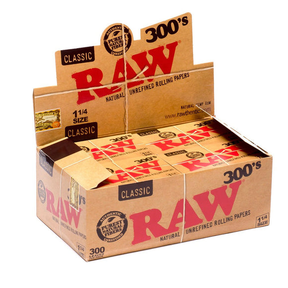 Raw 300's 1 1/4 Rolling Papers (20ct)