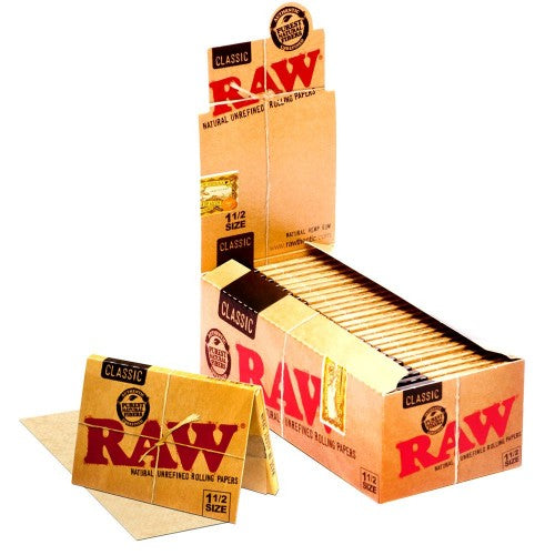 Raw 1 1/2 Rolling Papers