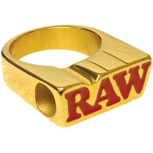 Raw Smoke Ring – 24K Gold Plated