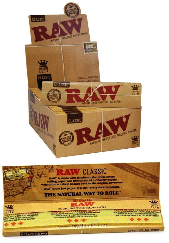 Raw Classic King Size Slim Papers (50 pack)