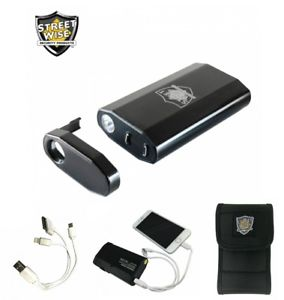 Streetwise 3-N-1 Charger 28,000,000 Stun Gun, Power Bank & Light