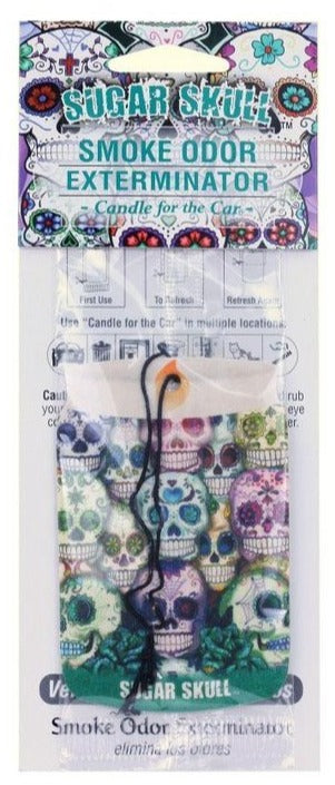 Candle for the Car Air Freshener - Sugar Skull