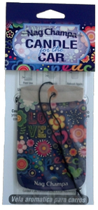 Candle for the Car Air Freshener - Nag Champa