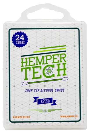 HemperTECH Snap cap Alcohol swabs (24 Pack)