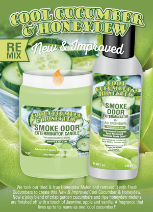 Smoke Odor Exterminator Candle 13oz Cool Cucumber & Honeydew