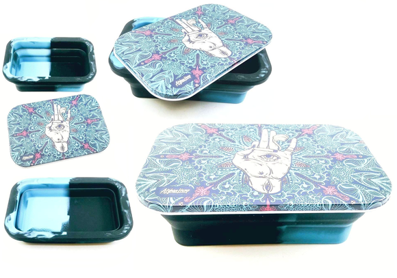 Afghan Hemp Spring Silicone Tray - Turquoise Hand