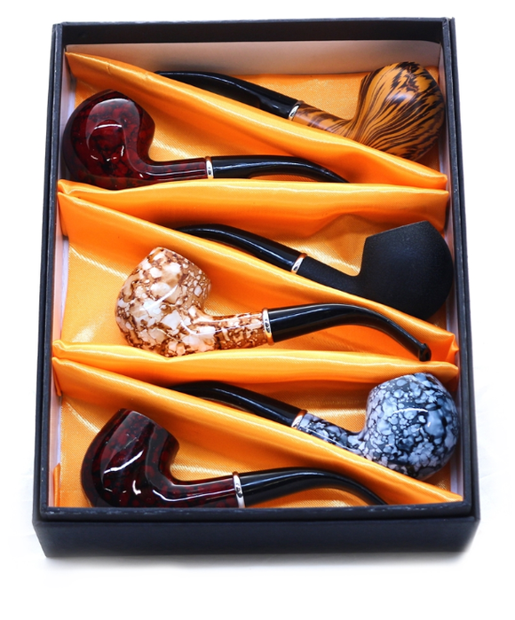 Feng Shun Wood Pipe Gift Set (6ct)