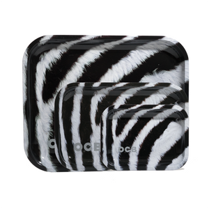 OCB Metal Rolling Tray - Zebra (Medium)