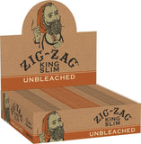Zig Zag Unbleached King Slim Rolling Papers (24ct)