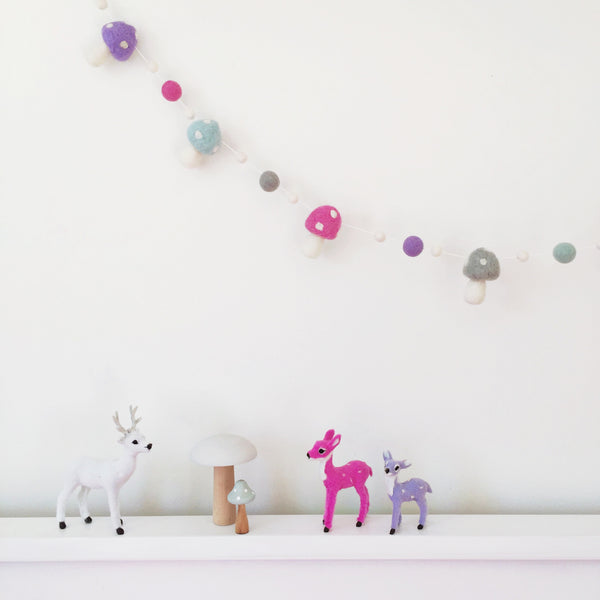 Toadstool Garland - Dreamy Pastel