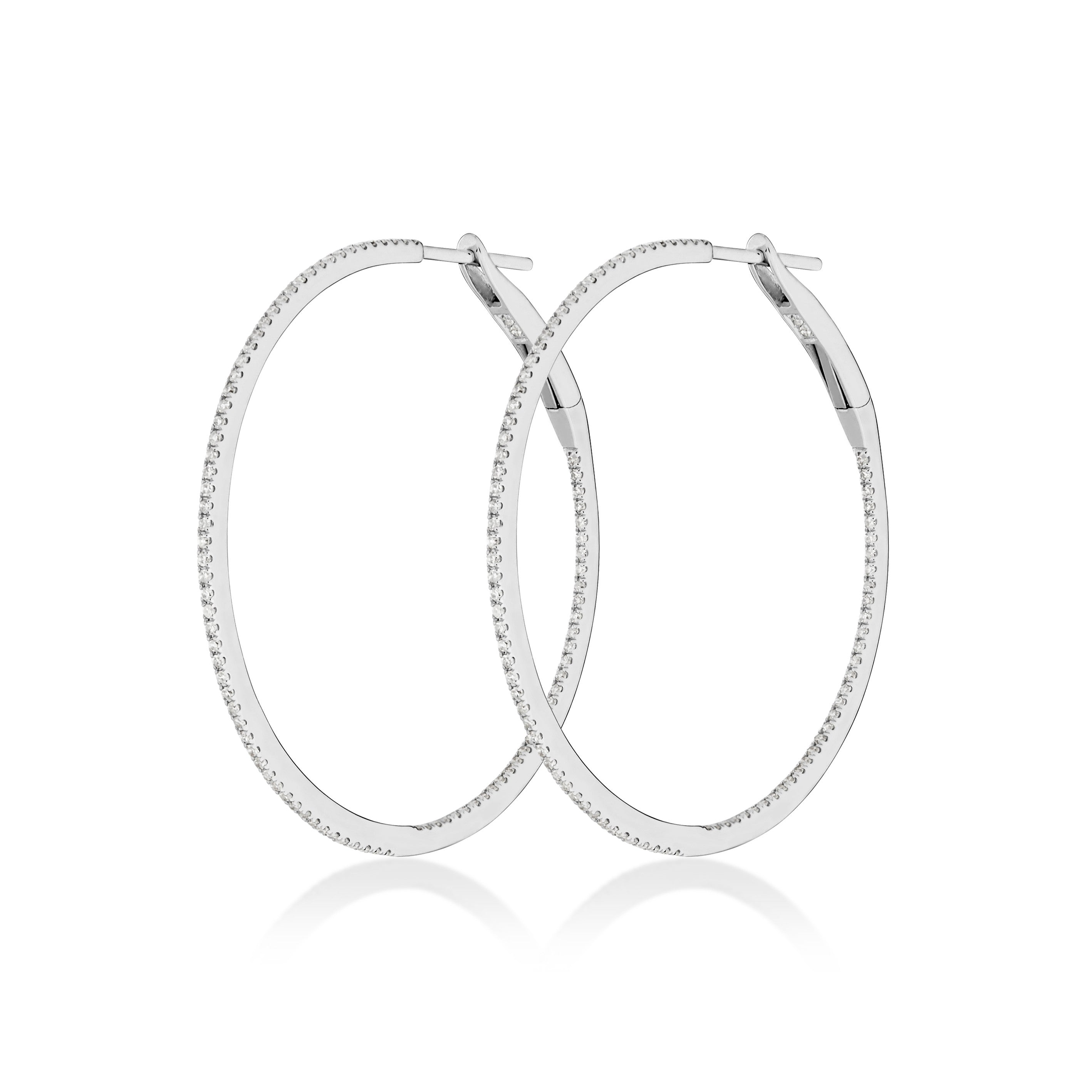 Medium Hoop Earrings , Earrings - Fine Jewelry, RoCHIC, RoCHIC Fine Jewelry