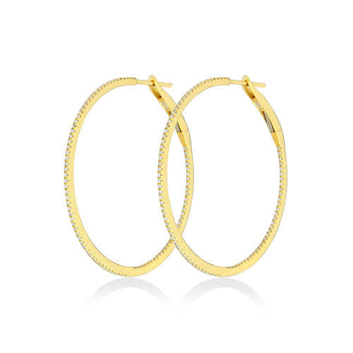 Medium Hoop Earrings , Earrings - Fine Jewelry, RoCHIC, RoCHIC Designer Fine Jewelry