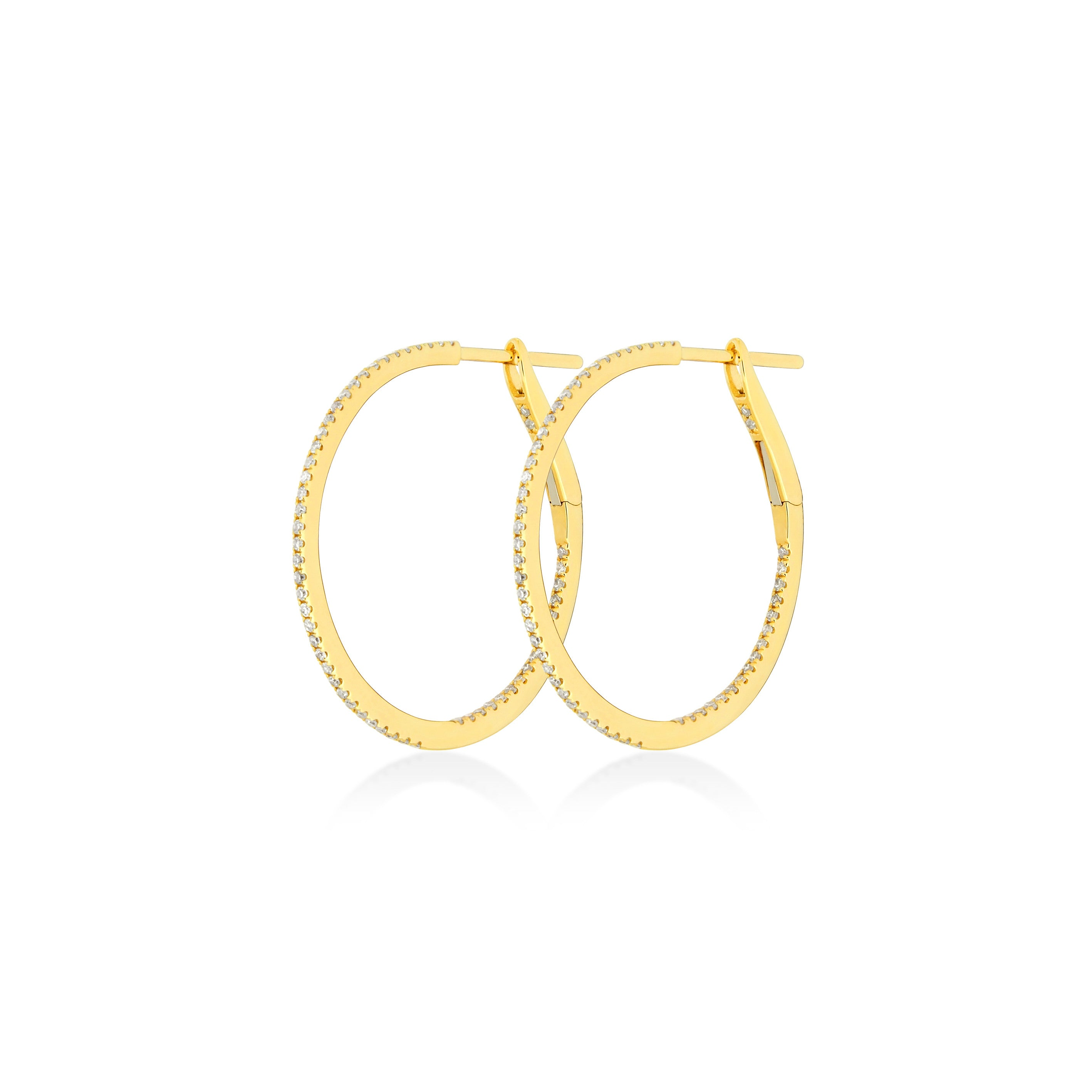 S Hoop Earrings 1 Inch/25 MM