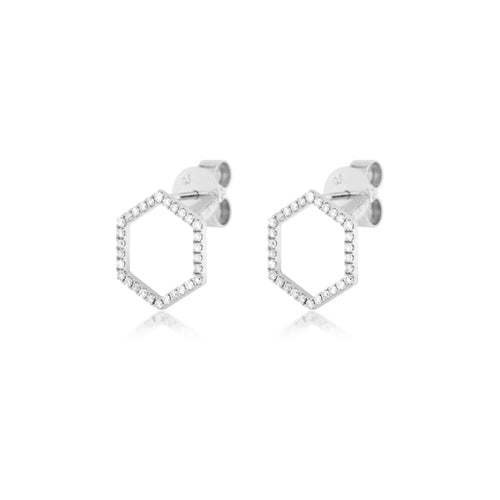 Hexagon Studs , Earrings - Fine Jewelry, RoCHIC, RoCHIC Designer Fine Jewelry