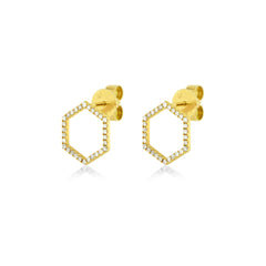 Hexagon Studs , Earrings - Fine Jewelry, RoCHIC, RoCHIC Fine Jewelry