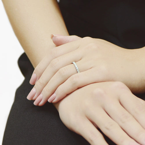 L Prong Set Half Band , Rings - Fine Jewelry, RoCHIC, RoCHIC Designer Fine Jewelry