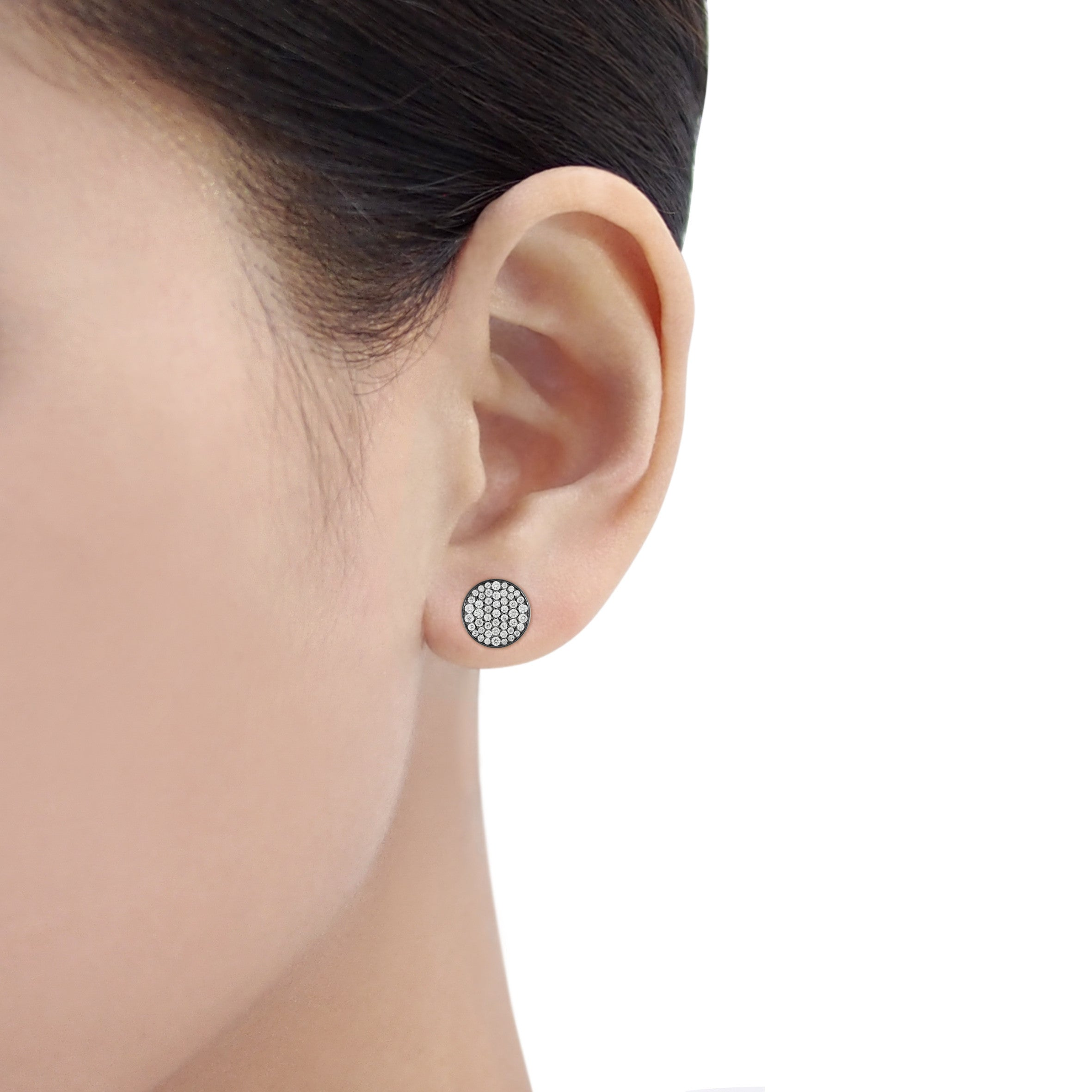 SMALL / LARGE Round Disk Earrings