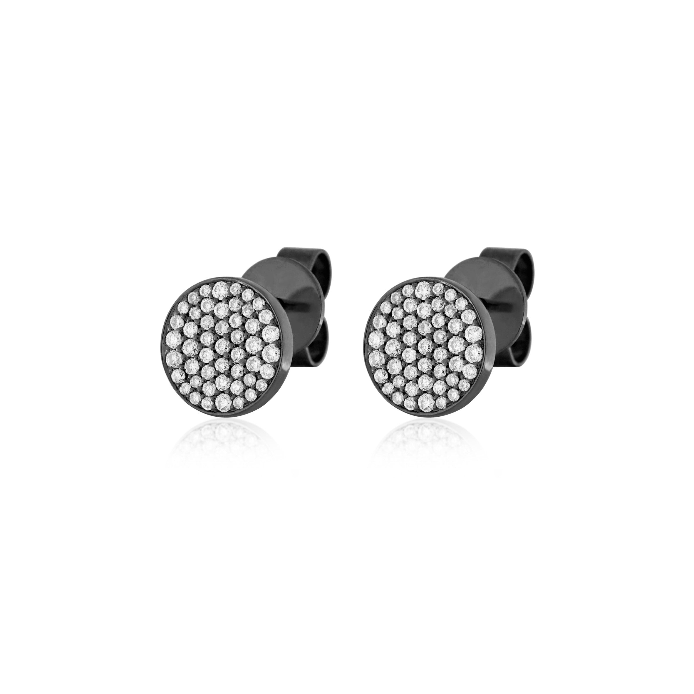 Disk Studs , Earrings - Fine Jewelry, RoCHIC, RoCHIC Fine Jewelry