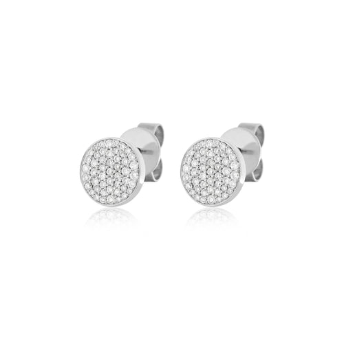 Disk Studs , Earrings - Fine Jewelry, RoCHIC, RoCHIC Designer Fine Jewelry