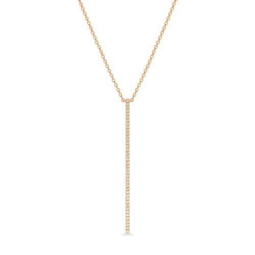 Bar Necklace in 18K Rose Gold , Necklaces - Fine Jewelry, RoCHIC, RoCHIC Designer Fine Jewelry