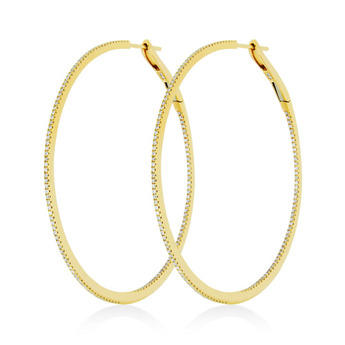 Large Hoop Earrings , Earrings - Fine Jewelry, RoCHIC, RoCHIC Designer Fine Jewelry