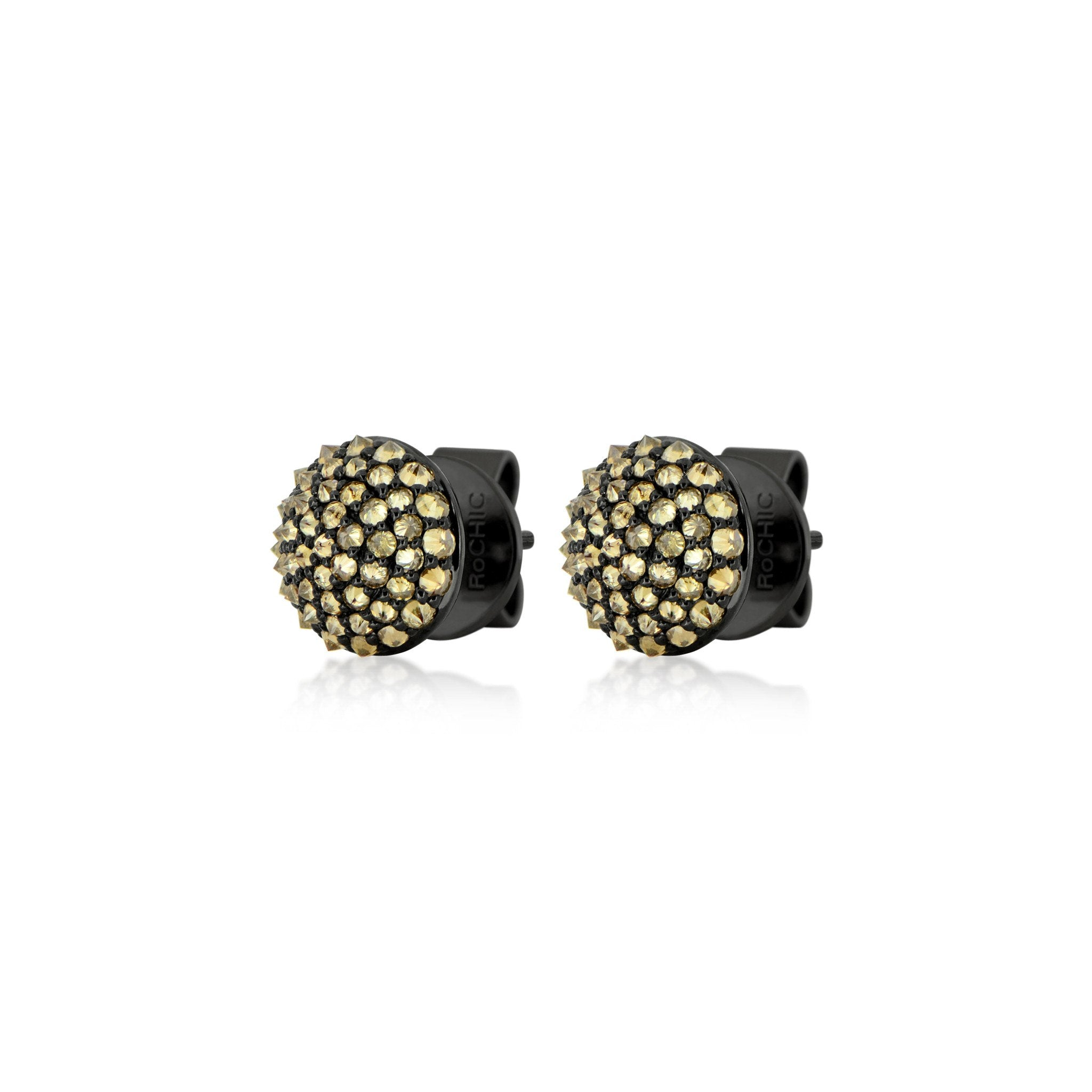 stud halo w brown diamond earrings double product