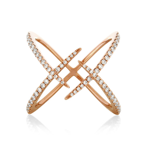 RoCHIC Fine Jewelry - Rose Gold Komet Diamond Ring