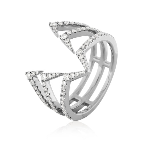 RoCHIC Fine Jewelry - White Gold Hermit Diamond Ring