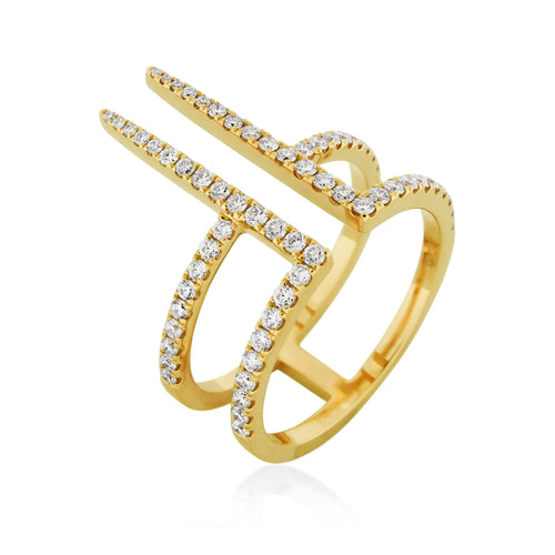 RoCHIC Fine Jewelry - Yellow Gold Turris Diamond Ring