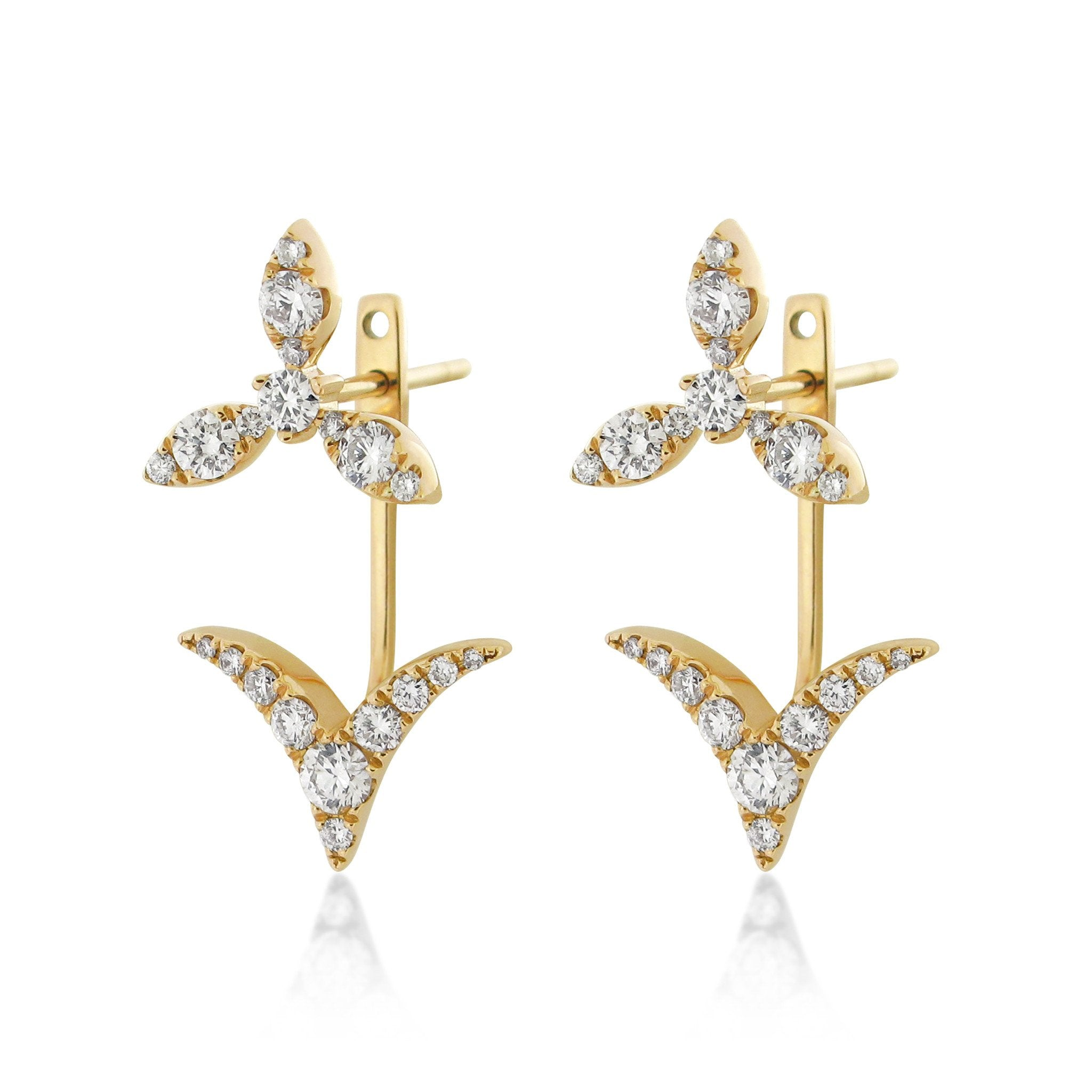 VOLANT Ear Jacket Earrings , Earrings - Fine Jewelry, RoCHIC, RoCHIC Designer Fine Jewelry
