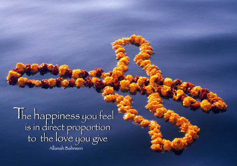 240 The happiness you feel is in direct proportion to the love you give