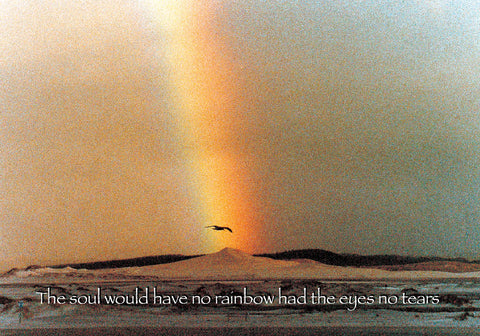 220 The soul would have no rainbow, had the eyes no tears