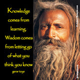 218 Knowledge comes from learning, wisdom comes from letting go of what you think you know