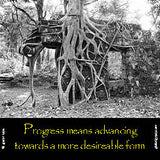 20  Progress means advancing towards a more desirable form