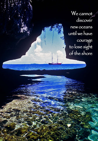 203 We cannot discover new oceans until we have courage to lose sight of the shore