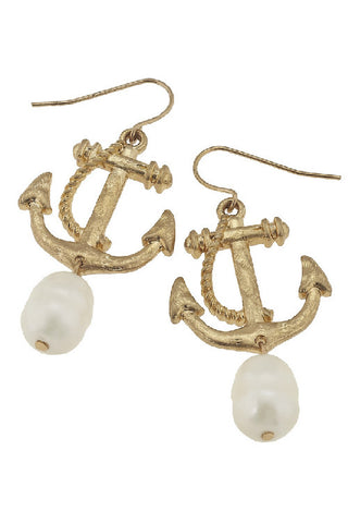Beach Comber Anchor Earring